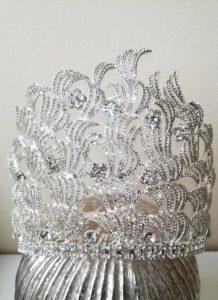 Великолепна висока кристална корона Goddess Godiva