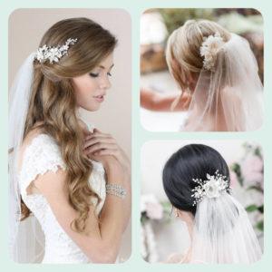 Украси за коса от цветя и кристали - AbsoluteRose.com