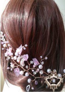 Ръчно изработен аксесоар за коса - Lilac by Rosie