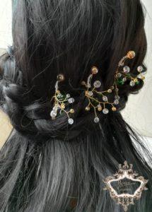 Дизайнерски комплект фуркети- украса за коса от серия Vintage Memories