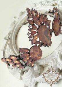 Кристална корона за булка и абитуриентка Moon Rose-Сваровски кристали by Rosie Concept