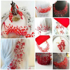 Тиари, диадеми и украси за коса в червено - AbsoluteRose