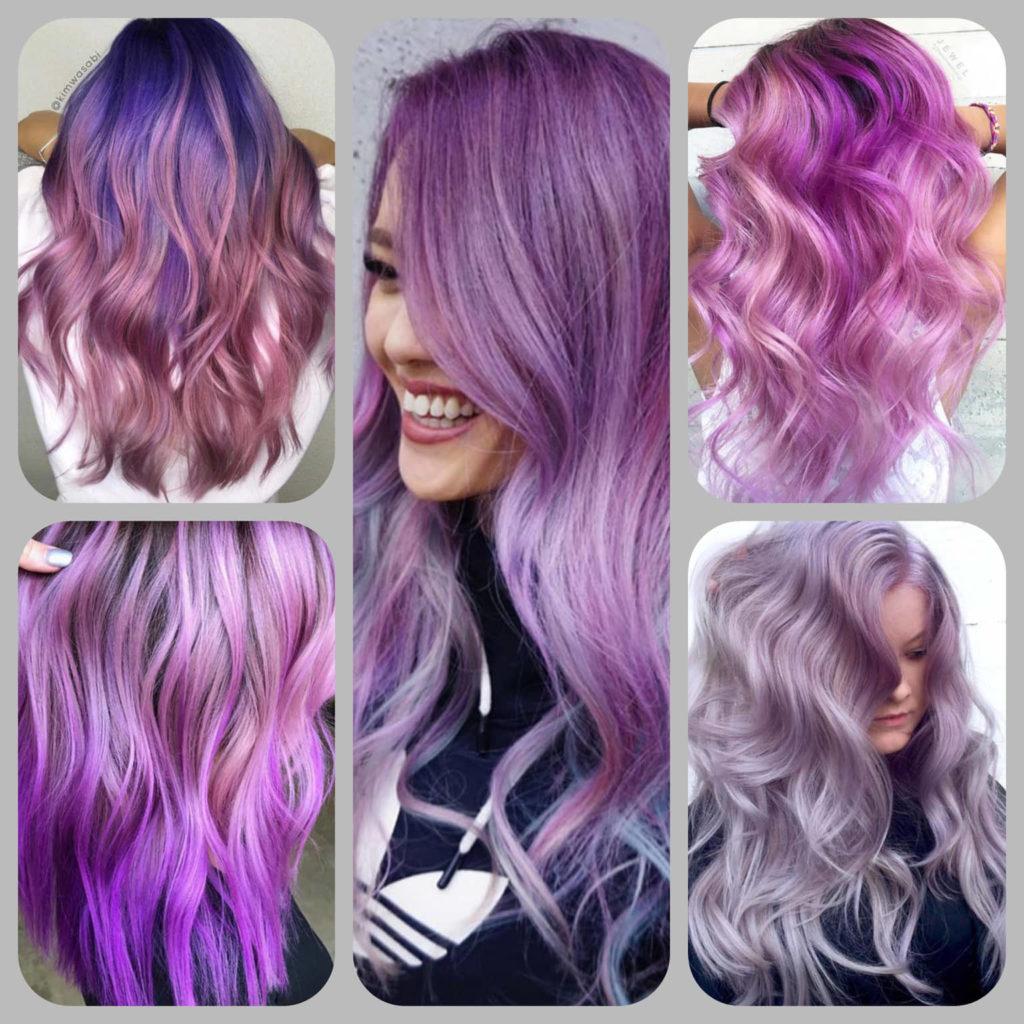 Прически с лилава коса - бои за коса Radical от Absoluterose.com