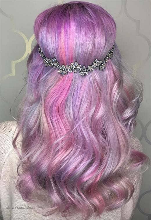 Боя за коса в светло лилаво - AbsoluteRose.com