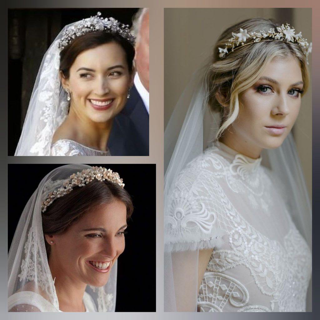 Сватбени прически с корона и воал - AbsoluteRose.com